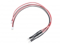 Miscellaneous All 3mm 6-12V LED Unit Set  with JST ZH1.5  Wire Length 20 cm (2 Red LEDS) by Team Raffee Co.