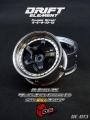 Miscellaneous All Drift Element Wheel - Adj. Offset (2) / Hi Gloss 2K Black Face Chrome Lip w/ Gold Rivets by DS Racing