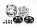 Tamiya TT-01 RC Two-Piece 5-Spoke Wheels Black (2Pcs) by Tamiya