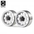 Miscellaneous All 1.9 Metal Beadlock Wheel G10 (2) White by GRC