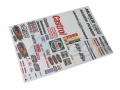 Miscellaneous All 1/10 Castrol Decal Sticker A4 by Team C