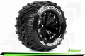 Miscellaneous All MT-CYCLONE 1/10 2.8 Monster Truck Wheel + Tire Set Mounted Soft Black 1/2-Offset by Louise RC