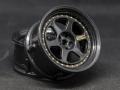 Miscellaneous All Drift Element Wheel II - Adj. Offset (2) / Triple Black w/ Gold Rivets by DS Racing