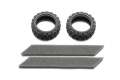Miscellaneous All Rally Block Tire Soft 2pcs by Tamiya