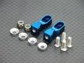 Tamiya TT-01 Aluminum Servo Mount With Collars + Lock Nuts + Screws 1 Pair Set Blue by GPM Racing