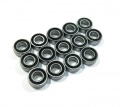 Tamiya DT-02 High Performance Full Ball Bearings Set Rubber Sealed (14 Total) by Boom Racing
