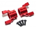 Axial Wraith Aluminum C-hub Carrier Caster Block (2) Red by TopCad