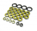 Mugen Seiki X6 High Performance Full Ball Bearings Set Rubber Sealed (24 Total) by Boom Racing