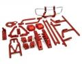 Axial Wraith Aluminum Chassis Upgrade Combo Set With Tool Box Red by TopCad
