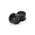 Axial Racing Axial Wraith 2.2 Raceline Renegade Wheels - 41mm Wide  Black (2 Pcs)