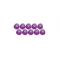 Miscellaneous All 3mm Aluminum Flanged Lock Nuts (10 Pcs) - Purple by 3Racing