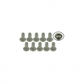 Miscellaneous All M2 x 4 Titanium Button Head Hex Socket - Machine (10 Pcs) by 3Racing
