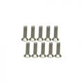 Miscellaneous All M2.6 x 10 Titanium Flat Head Hex Socket - Machine (10 Pcs) by 3Racing