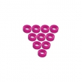Miscellaneous All Aluminium M3 Flat Washer 2.0mm (10 Pieces) Pink by 3Racing