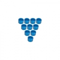 Miscellaneous All Aluminium M3 Flat Washer 3.5mm (10 Pcs) - Light Blue by 3Racing