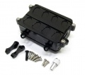 Axial SCX10 Aluminum Receiver Box For Honcho & Dingo Black by TopCad