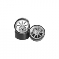Miscellaneous All 1/10 9 Spoke Wheel & Tyre Set For Drift (5mm Offset) 4 Pieces by 3Racing