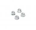 Miscellaneous  All Realistic Aluminum Serrated Wheel Locknut (4 pcs) Silver by Team Raffee Co.
