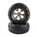 Tamiya CC01 Rock Block Tires W/tapered 6-spoke Wheel by Tamiya
