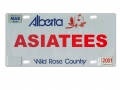 Miscellaneous All Realistic Alberta Plate  (ASIATEES) For RC Cars by ATees