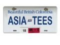 Miscellaneous All Realistic British Columbia Licence Plate (ASIATEES) For RC Cars by ATees