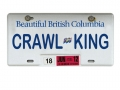 Miscellaneous All Realistic British Columbia Plate (CRAWLKING) For RC Cars by ATees