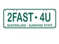 Miscellaneous All Realistic Queensland Plate (2FAST4U) For RC Cars by ATees