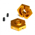 Team Durango DESC210 15MM Locking Hex (2) Gold by EXOTEK Racing