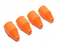 HPI Baja 5B RTR/5B SS/5T MadMax Rubber Axle Boots Orange by MadMax