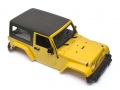 Miscellaneous All Wrangler Body For 1/10 RC Crawler Hard Top Yellow by Team Raffee Co.