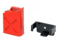 Miscellaneous All RC Scale Accessories - Fuel Bottle Gasoline Tank with Mount Red by Boom Racing
