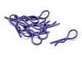 Miscellaneous All Heavy Duty Bent Body Clips (10) S-Purple by Speedmind