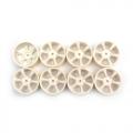 Miscellaneous All 6 Spokes Wheel 24MM White 0-Offset by Speedmind