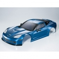 Miscellaneous All Corvette GT2 Finished Body Dark Metallic Blue (Printed) Used With 1/7 RC Electric Car by Killerbody