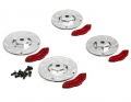 Miscellaneous All Caliper Brake Disc (CNC Aluminum) 2 Bigger & 2 Smaller For 1/10 Touring Car by Killerbody