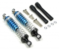 Miscellaneous All Plastic Ball Top Damper (90 mm) With 1.2mm Coil Spring & Dust-Proof Black Plastic Cover & Washers & Screws 1 Pair Set Blue (Silver Spring) by GPM Racing